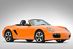 Low front angle view of a 2008 Porsche Boxster LE