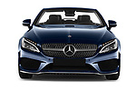 Car photography straight front view of a 2017 Mercedes Benz C-Class AMG-Line 2 Door convertible Front View