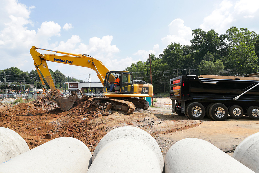 Construction in Charlottesville. Photo/Andrew Shurtleff Photography, LLC