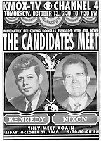 'Candidates Meet' promotional graphic for KMOX-TV, CBS in St. Louis, Missouri, 1960 ... photo courtesy/Debi Pittman Wilkey
