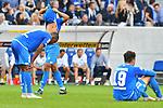 Frust bei Joelinton (TSG Hoffenheim #34), Reiss Nelson (TSG Hoffenheim #9), Ishak Belfodil (TSG Hoffenheim #19) beim Spiel in der Fussball Bundesliga, TSG 1899 Hoffenheim - Eintracht Frankfurt.<br /> <br /> Foto © PIX-Sportfotos *** Foto ist honorarpflichtig! *** Auf Anfrage in hoeherer Qualitaet/Aufloesung. Belegexemplar erbeten. Veroeffentlichung ausschliesslich fuer journalistisch-publizistische Zwecke. For editorial use only. DFL regulations prohibit any use of photographs as image sequences and/or quasi-video.