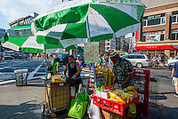 New York, NY 7 July 2014 - Canal Street Mango vendors ©Stacy Walsh Rosenstock/Alamy