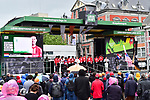 Team Sunweb mens and ladies teams at the team presentation before the start of the 105th edition of Li&egrave;ge-Bastogne-Li&egrave;ge 2019, La Doyenne, running 256km from Liege to Liege, Belgium. 27th April 2019<br /> Picture: ASO/Gautier Demouveaux | Cyclefile<br /> All photos usage must carry mandatory copyright credit (&copy; Cyclefile | ASO/Gautier Demouveaux)