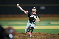 Davidson Wildcats relief pitcher Dan Spear (22) in action against the Wake Forest Demon Deacons at David F. Couch Ballpark on February 28, 2017 in Winston-Salem, North Carolina.  The Demon Deacons defeated the Wildcats 13-5.  (Brian Westerholt/Four Seam Images)