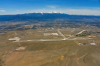 Colorado Springs airport aerial looking west
