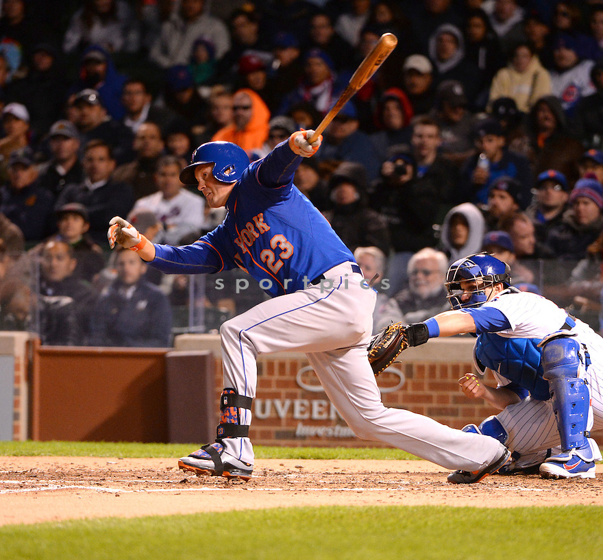 New York Mets Michael Cuddyer (23) during a game against the Chicago Cubs on May 13, 2015 at Wrigley Field in Chicago, IL. The Cubs beat the Mets 2-1.