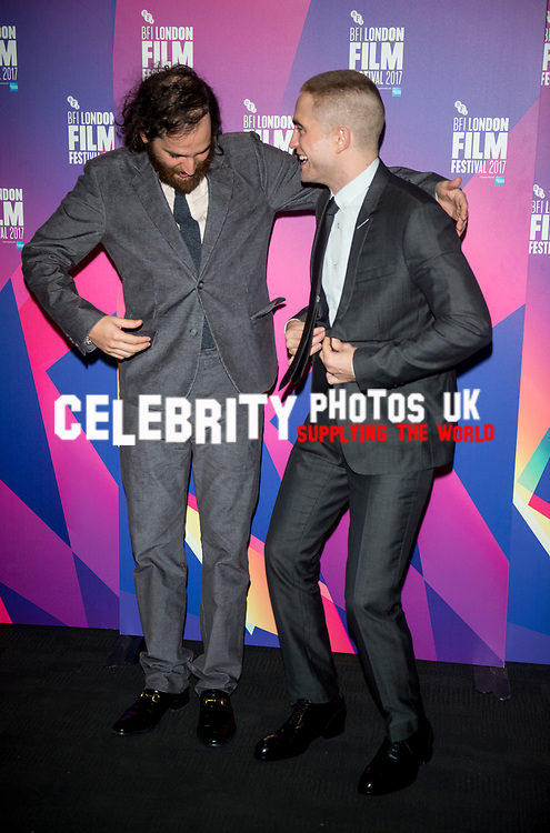 Josh Safdie and Robert Pattinson at the 'Good Time' film premiere, BFI London Film Festival
