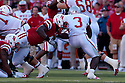 04 Sep 2010: Nebraska Cornhuskers linebacker Lavonte David (4) breaks through for the tackle against Western Kentucky Hilltoppers running back Bobby Rainey (3) at Memorial Staduim in Lincoln, Nebraska. Nebraska defeated Western Kentucky 49 to 10.