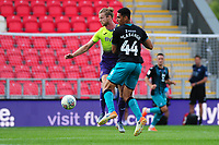 Ben Cabango of Swansea City in action during the pre season friendly match between Exeter City and Swansea City at St James Park in Exeter, England, UK. Saturday, 20 July 2019