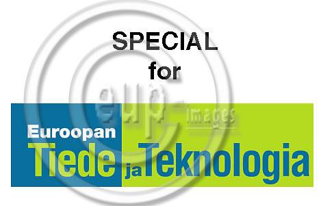 Euroopan tiede ja teknologia logo, TEKES - Teknologian kehittämiskeskus.
