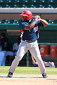 Washington Nationals outfielder Michael Burgess during a game vs. the Detroit Tigers in an Instructional League game at Joker Marchant Stadium in Lakeland, Florida;  October 1, 2010.   Photo By Mike Janes/Four Seam Images