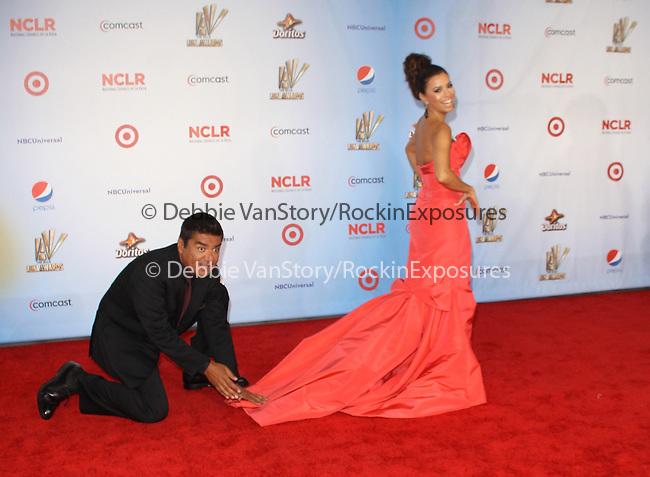 Eva Longoria and George Lopez at The 2011 NCLR ALMA Awards® held at the Santa Monica Civic Auditorium in Santa Monica, California on September 10,2011                                                                               © 2011 Hollywood Press Agency