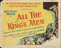 All the King's Men (1949) <br /> Lobby card with Broderick Crawford<br /> *Filmstill - Editorial Use Only*<br /> CAP/MFS<br /> Image supplied by Capital Pictures
