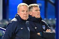 Portsmouth Manager Kenny Jackett and Assistant Joe Gallen during Portsmouth vs Exeter City, Leasing.com Trophy Football at Fratton Park on 18th February 2020