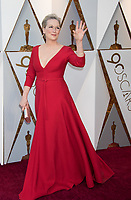 Oscar&reg; nominee Meryl Streep arrives on the red carpet of The 90th Oscars&reg; at the Dolby&reg; Theatre in Hollywood, CA on Sunday, March 4, 2018.<br /> *Editorial Use Only*<br /> CAP/PLF/AMPAS<br /> Supplied by Capital Pictures