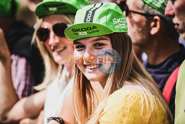 Binche welcomes the Tour before Stage 3 of the 2019 Tour de France running 215km from Binche, Belgium to Epernay, France. 8th July 2019.<br /> Picture: ASO/Pauline Ballet   Cyclefile<br /> All photos usage must carry mandatory copyright credit (© Cyclefile   ASO/Pauline Ballet)