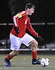 Thomas Doyle #16 of South Side moves the ball downfield during the Nassau County Class A varsity boys soccer semifinals against Mineola at Adelphi University on Friday, Oct. 28, 2016. South Side scored two goals in span of 38 seconds late in the second half to rally from a 2-1 deficit and win in dramatic fashion.