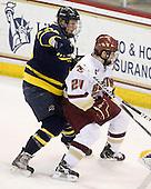 Adam Ross (Merrimack - 26), Matt Lombardi (BC - 24) - The Boston College Eagles defeated the Merrimack College Warriors 7-0 on Tuesday, February 23, 2010 at Conte Forum in Chestnut Hill, Massachusetts.