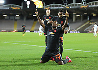 12th March 2020, TGW Arena, Pasching, Austria; UEFA Europa League football,  LASK versus Manchester United; Odion Ighalo Manchester United celebrates scoring for 1-0