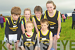 YOUNG: Under 12 Faranfore Maine Valley Ac ran to their hearts contens in the 400 relay race at the Crposs Country on Sunday in Ardfert.Diarmuid O'mahony and David Kenny. Back l-r: Rossa Foley, Niamh Ladden, jack O'Driscoll and Siobhan Ladden...