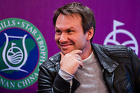 HAIKOU, CHINA - OCTOBER 27:  Hollywood super star actor Christian Slater of USA attends the opening press conference of the Mission Hills Star Trophy on October 27, 2010 in Haikou, China. The Mission Hills Star Trophy is Asia's leading leisure liflestyle event and features Hollywood celebrities and international golf stars.  Photo by Victor Fraile / studioEAST