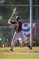 St. Bonaventure Bonnies David Vaccaro (4) at bat during a game against the Dartmouth Big Green on February 25, 2017 at North Charlotte Regional Park in Port Charlotte, Florida.  St. Bonaventure defeated Dartmouth 8-7.  (Mike Janes/Four Seam Images)
