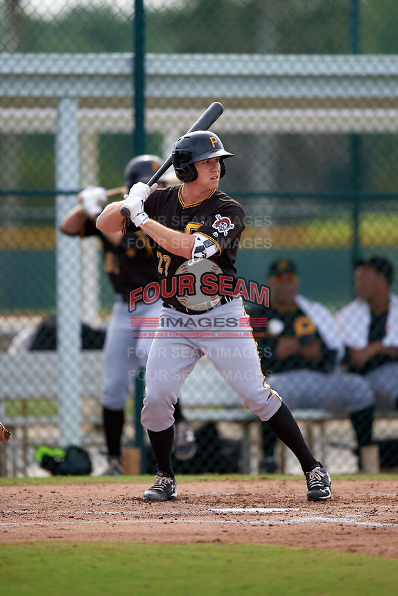 Pittsburgh Pirates Jordan Luplow (27) during a minor league Spring Training intrasquad game on April 3, 2016 at Pirate City in Bradenton, Florida.  (Mike Janes/Four Seam Images)