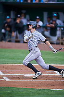 Brenton Doyle (29) of the Grand Junction Rockies bats against the Ogden Raptors at Lindquist Field on June 17, 2019 in Ogden, Utah. The Rockies defeated the Raptors 9-0. (Stephen Smith/Four Seam Images)