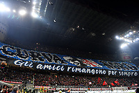 Inter supporters coreography prior to the Serie A 2018/2019 football match between AC Milan and FC Internazionale at stadio Giuseppe Meazza, Milano, March 17, 2019 <br /> Photo Andrea Staccioli / Insidefoto