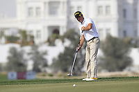 Steve Webster (ENG) putts on the 12th green during Sunday's Final Round of the Commercial Bank Qatar Masters 2013 at Doha Golf Club, Doha, Qatar 26th January 2013 .Photo Eoin Clarke/www.golffile.ie