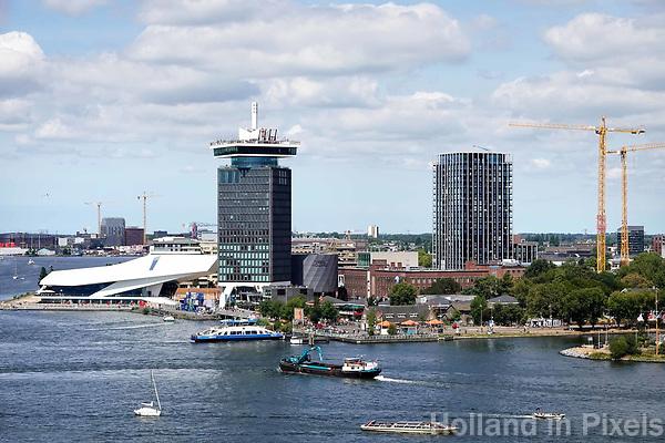 Nederland - Amsterdam - 2018.  Het IJ. Amsterdam-Noord.  Foto Berlinda van Dam / Hollandse Hoogte.