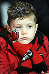 A young Bournemouth fan with a painted face<br /> - Barclays Premier League - Bournemouth vs Manchester United - Vitality Stadium - Bournemouth - England - 12th December 2015 - Pic Robin Parker/Sportimage