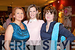 Pictured at Kerry Fashion Weekend Fashion Show on Friday night in the Carlton hotel, Tralee were l-r: Siobhan Colbert (Tralee) Marion Gilbride Godley (Ballyheigue) and Anne Leen (Ardfert)...