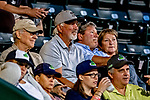29 August 2019: Former Boston Red Sox and Montreal Expo pitcher Bill Lee watches a Single-A minor league game between the Connecticut Tigers and the Vermont Lake Monsters at Centennial Field in Burlington, Vermont. The Tigers defeated the Lake Monsters 6-2 in the first game of their NY Penn League double-header.  Mandatory Credit: Ed Wolfstein Photo *** RAW (NEF) Image File Available ***