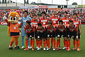 "eAa{EAEaEfEBA[EWEE/Omiya Ardija team group line-up,.MAY 7, 2011 - Football :.Omiya Ardija players (Top row - L to R) Takashi Kitano, Kota Ueda, Kim Young Gwon, Rafael, Takuya Aoki, Lee Chun Soo, (Bottom row - L to R) Keigo Higashi, Daisuke Watabe, Daigo Watanabe, Kazuhiro Murakami and Yuki Fukaya pose for a team photo with the club mascot ""Miya"" before the 2011 J.League Division 1 match between Omiya Ardija 0-0 Albirex Niigata at NACK5 Stadium Omiya in Saitama, Japan. (Photo by Hiroyuki Sato/AFLO)"