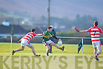 Alan Fitzgerald  Kerry in action against Eoin Byrne Cork IT in the semi final of the McGrath Cup at John Mitchells Grounds on Sunday.