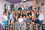 Tralee couple, Chris Foley, St John's Pk,and Fiona O'Connell,Caherslee(seated centre)had a fab night celebrating their engagement along with many friends and family last Saturday night in the Greyhound bar,Tralee.