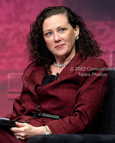 """Marji Ross, President, Regnery Publishing, moderates a panel titled """"The Right View"""" at the 2012 CPAC Conference at the Marriott Wardman Park Hotel in Washington, D.C. on Friday, February 10, 2012..Credit: Ron Sachs / CNP"""