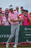 Dustin Johnson (USA) watches his tee shot on 1 during round 4 of The Players Championship, TPC Sawgrass, at Ponte Vedra, Florida, USA. 5/13/2018.<br /> Picture: Golffile | Ken Murray<br /> <br /> <br /> All photo usage must carry mandatory copyright credit (&copy; Golffile | Ken Murray)