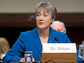Former United States Representative Heather A. Wilson (Republican of New Mexico) testifies before he US Senate Armed Services Committee on her nomination to be Secretary of the Air Force on Capitol Hill in Washington, DC on Thursday, March 30, 2017.<br /> Credit: Ron Sachs / CNP