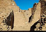 Type III Masonry, Chetro Ketl Chacoan Great House, Anasazi Hisatsinom Ancestral Pueblo Site, Chaco Culture National Historical Park, Chaco Canyon, Nageezi, New Mexico