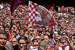 LONDON, ENGLAND - MAY 12: York City Fans in the Stadium before the FA Carlsberg Trophy Final between York City and Newport County at Wembley Stadium on May 12, 2012 in London, England. (Photo by Dave Horn - Extreme Aperture Photography)