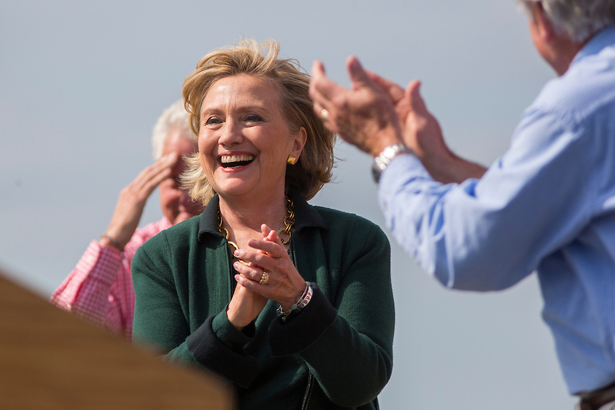 Hillary  Clinton attends Iowa Senator Tom Harken's  annual Steak Fry in Indianola,  Iowa