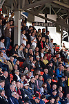 Home fans watching the action from the main stand at the Gateshead International Stadium, the athletics stadium which is also the home ground of Gateshead FC, as the club play host to Cambridge United in a Blue Square Bet Premier division fixture. The match ended in a one-all draw, watched by a crowd of 904. The point meant Gateshead went to the top of the division, one below the Football League in England.