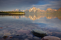 Jackson Lake, Grand Teton Reflection, Grand Teton National Park<br />