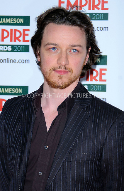 WWW.ACEPIXS.COM . . . . .  ..... . . . . US SALES ONLY . . . . .....March 27 2011, London....James McAvoy at the Jameson Empire Film Awards held at Grosvenor House on March 27 2011 in London....Please byline: FAMOUS-ACE PICTURES... . . . .  ....Ace Pictures, Inc:  ..Tel: (212) 243-8787..e-mail: info@acepixs.com..web: http://www.acepixs.com