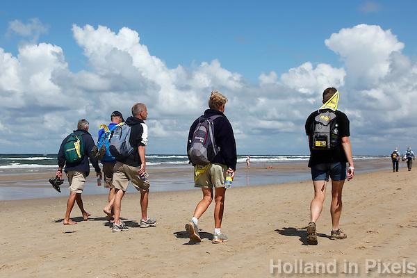 Strandzesdaagse langs de kust