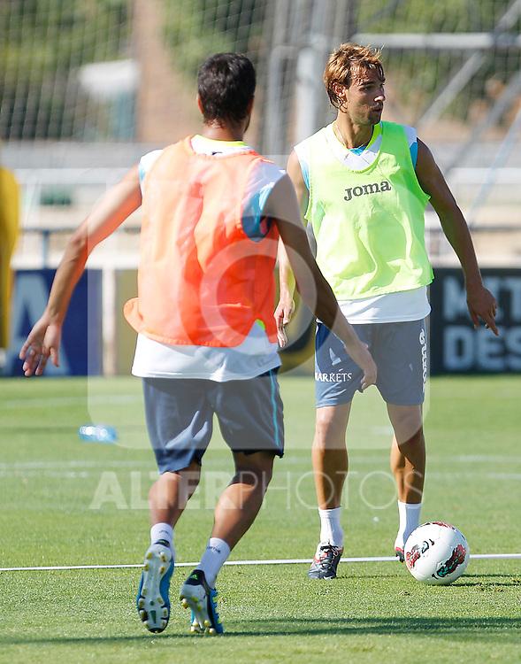 Getafe's Juan Valera training session. August 16, 2011. (ALTERPHOTOS/Acero)