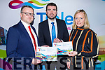 Minister Brendan Griffin TD officially launching the Tralee Chamber Alliance's Developing Tourism in Tralee - Action Plan to 2025 with Ken Tobin (President Tralee Chamber Alliance) and Jean Foley (Kerry County Council) in the Ballyseede Castle Hotel on Monday.