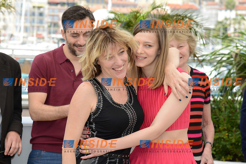 L equipe du film Un chateau en Italie ; Valeria Bruni Tedeschi, Celine Sallette .Cannes 21/5/2013 .Festival del Cinema di Cannes .Foto Panoramic / Insidefoto .ITALY ONLY
